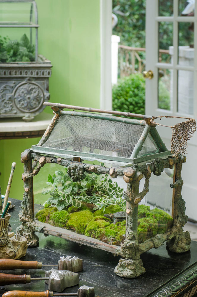 Antique french terrarium